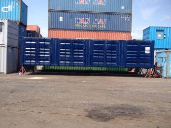 02-Container 40 mở 4 cửa vách bằng cửa nguyên bản